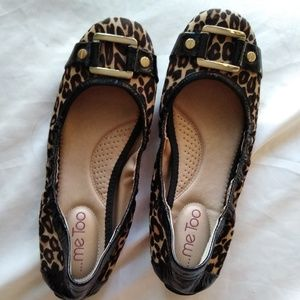 Me too animal print flats, size 7.5